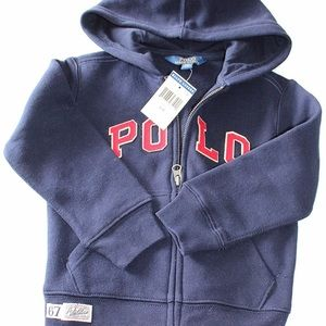 Ralph Lauren Toddler Hoodie w/Polo Logo